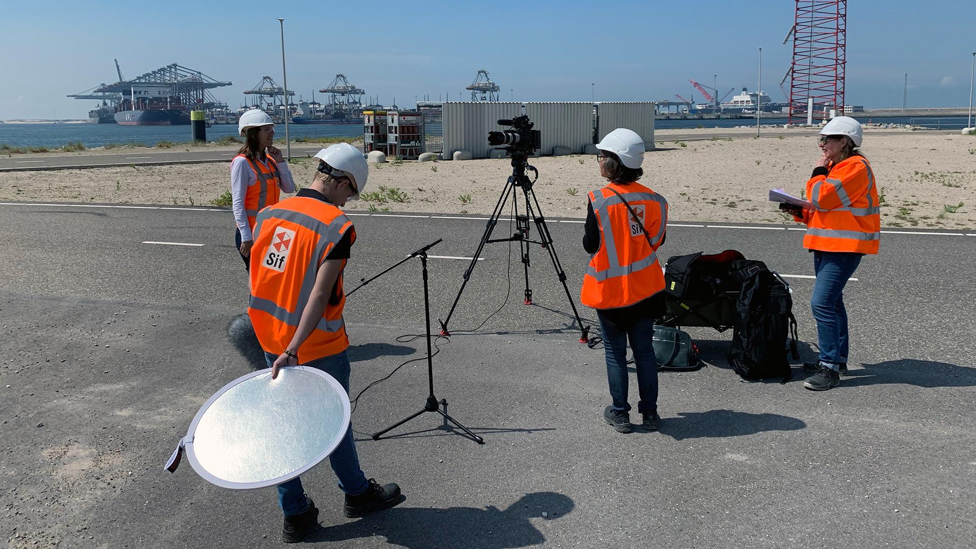 Film crew 1,5 meter